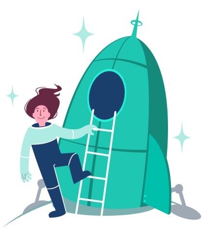 rocketgirl will take you where you need to go